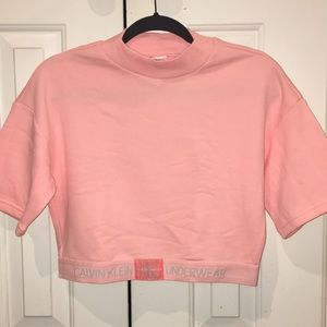 CK Sleepwear Crop Top